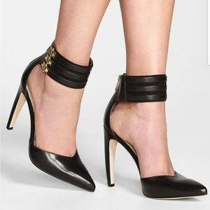 Sam Edelman Claire Ankle Cuff  Pointy Toe Heel 9.5